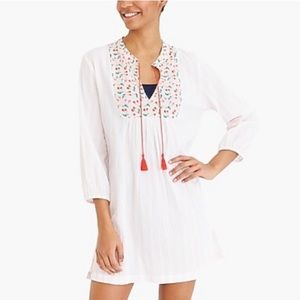 New J By J Crew Mixed Print Popover Tunic